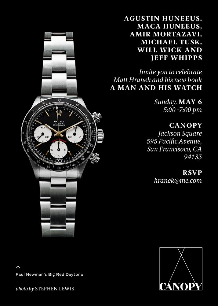 BOOK LAUNCH: MATT HRANEK, A MAN AND HIS WATCH