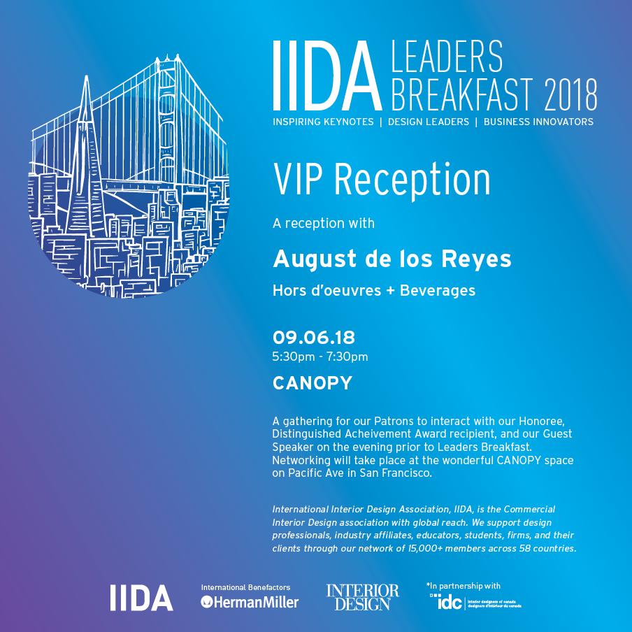 IIDA Leaders Breakfast 2018 Reception
