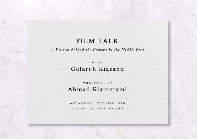 Film Talk: A Woman Behind the Camera in the Middle East