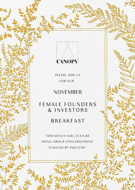 Female Founders & Investors Breakfast