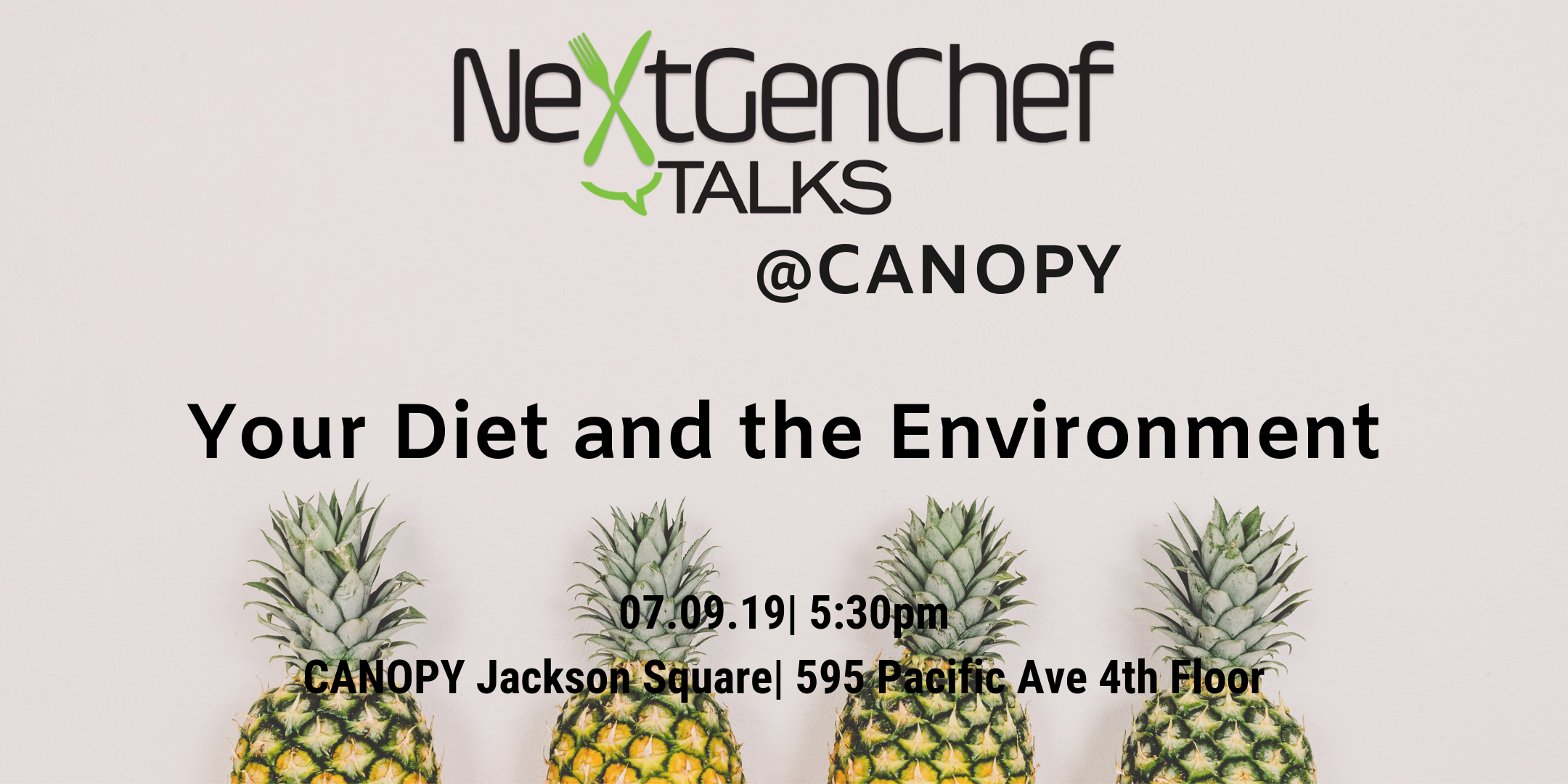 NextGen Chef Talks: Your Diet and the Environment